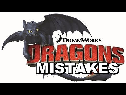 How To Train Your Dragon Movie Mistakes Fail and Bloopers Part 1