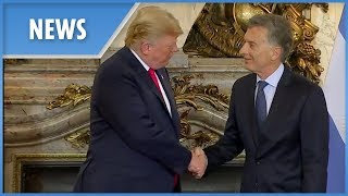 G20: Trump welcomed by Argentine President Mauricio Macri