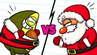 Santa is Vegetable?! Christmas Cartoons