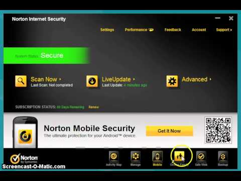 Norton Internet Security 2012 running on Windows 8 Consumer Preview