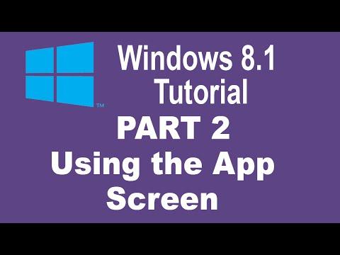 Windows 8.1 Tutorial - Using the Windows 8.1 Apps Screen