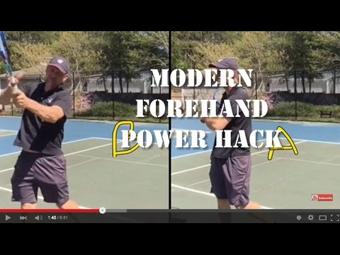 Modern Forehand Tennis Lesson: Biggest Overlooked Power Source