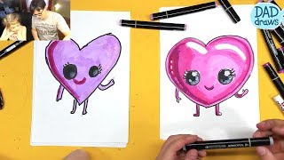 How to draw HEART AND CHILD