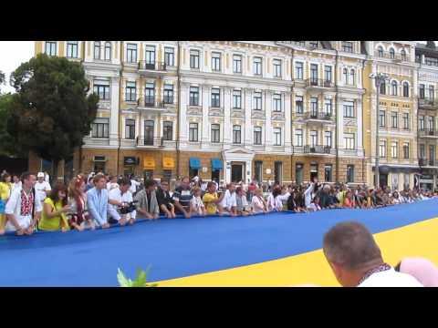 День Независимости Украины на Андреевском Спуске в Киеве, Украина 24.08.2014