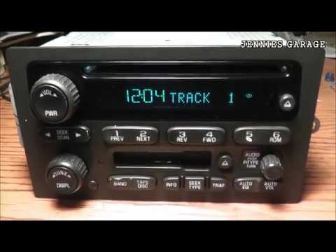 How To Unlock A 2002 - 2008 Chevrolet Theftlock Radio - With Catchy Tune Bonus!!