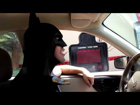 Batman at the Drive Thru