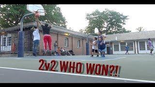 CRAZY 2V2 BASKETBALL GAME!! (SICK TRICKS)