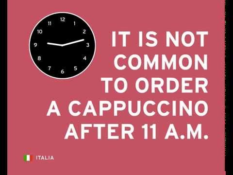 In Italy, only tourists order a capuccino after 11 a m