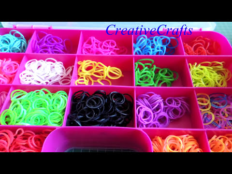 Como organiza las gomitas mi sobrina. Rainbow Loom Rubber Bands.