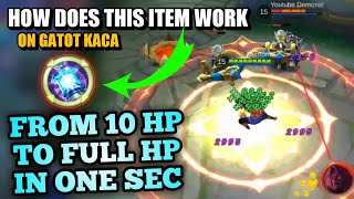SPELL VAMP ON GATOT KACA | AMAZING RESULTS ! | MOBILE LEGENDS ( EXPERIMENT )