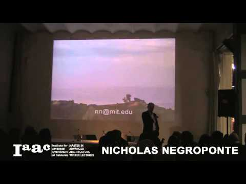 Nicholas Negroponte - IaaC Lecture Series 2012-13