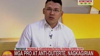UB: Mga pro at anti-Duterte, nagkagirian sa People Power Monument