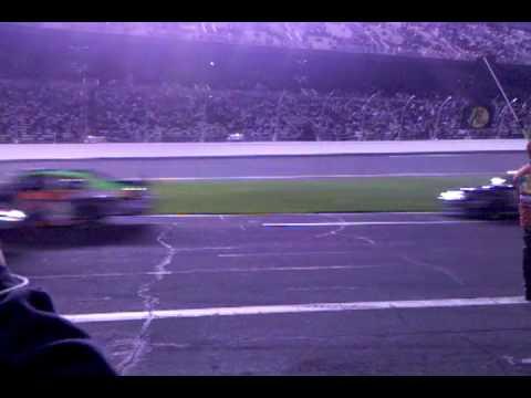Budweiser shootout 2010 start view from the pit NASCAR