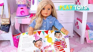 Play American Girl Dolls Slumber Party with Candy and Cupcake Toys!🎀