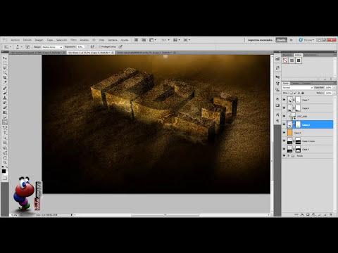 Photoshop: Texto sobre arena
