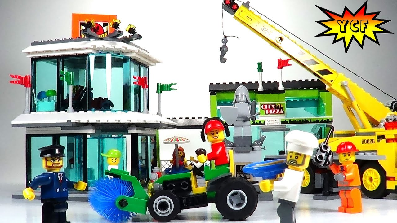 lego city town square review lego 60026 youtube. Black Bedroom Furniture Sets. Home Design Ideas