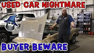 The CAR WIZARD finds a wiring nightmare!