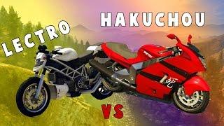 GTA 5 - Lectro VS Hakuchou, Fastest Motorcycle in GTA 5?