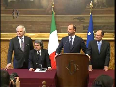 Roma – Le consultazioni di Letta Pdl (25.04.13)