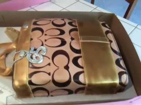 Coach purse cake