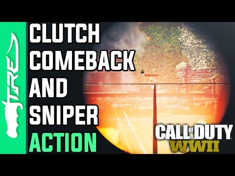 CLUTCH COMEBACK AND SNIPER ACTION! - Call of Duty WW2 Multiplayer Gameplay w/ LANDAN (COD WWII)