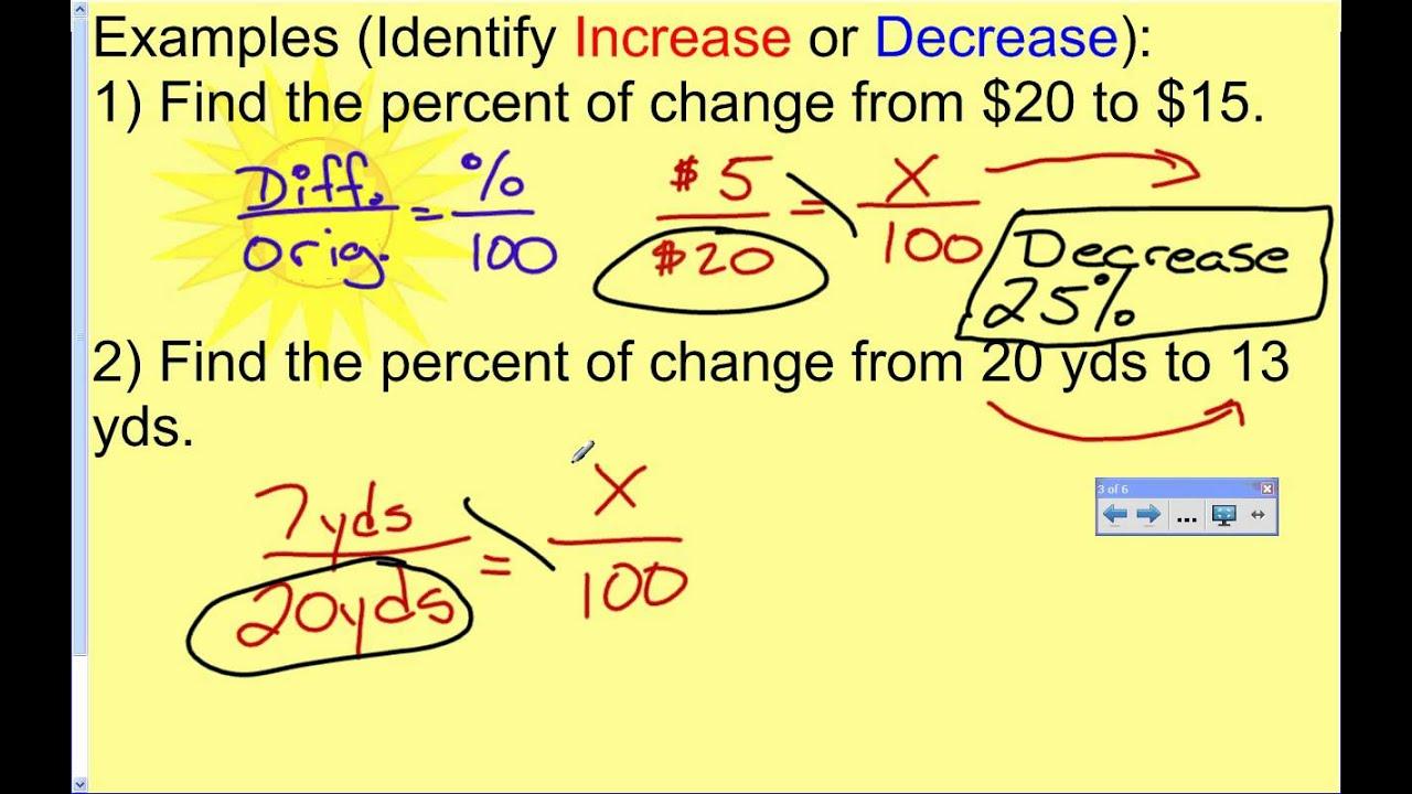 3 way calculate percentage change