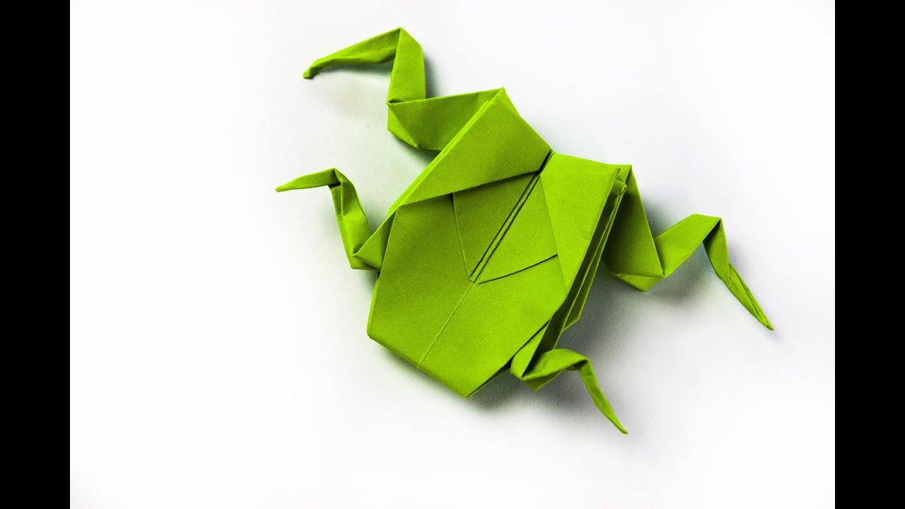 Как сделать оригами с лягушки