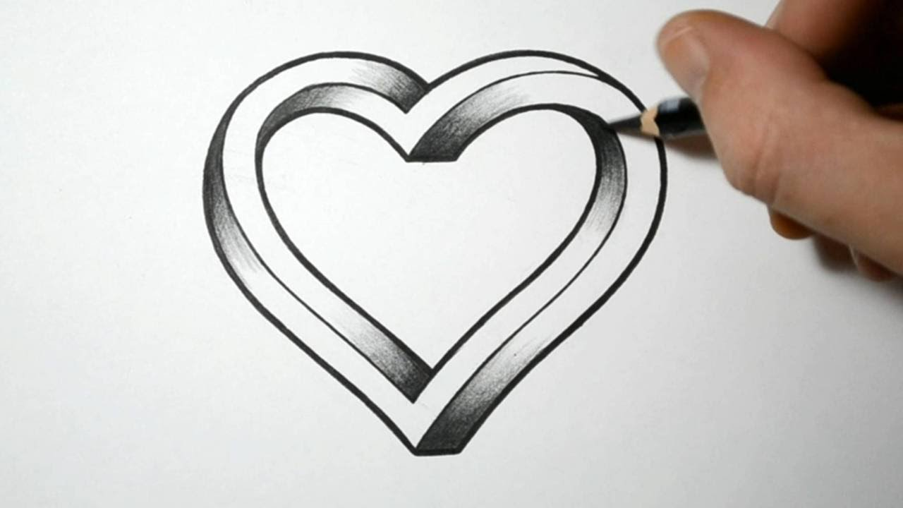 how to draw an impossible heart youtube