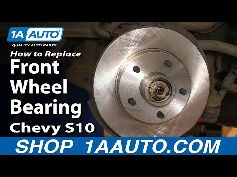 How to Install Replace Front Wheel Bearing Chevy S-10 GMC S-15 2WD 94-03 1AAuto.com