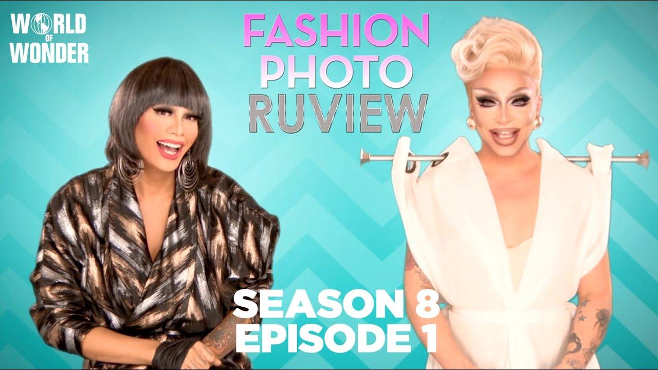 Season 8 Ep1: RuPaul's Drag Race Fashion Photo RuView with Raja and Raven