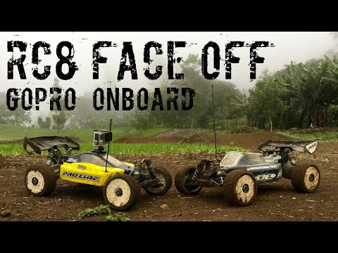 RC Buggy Face Off! 2 RC8 2e's, a Muddy Track, and a GoPro Onboard!