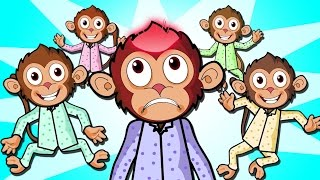Five Little Monkeys Jumping On The Bed - Nursery Rhymes For Children | Chikaraks
