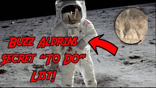 "Buzz Aldrin's ""To Do"" list on the moon! Apollo 11 Moon Landing / Apollo 50th"