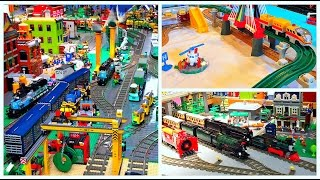 Toy Trains Galore at Railway Days! Lego Trains, Fisher Price GeoTrax, Model Trains!
