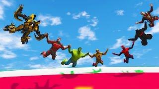 FLYING BOWLING CHALLENGE! (Funny Superhero Contest Animation w/ Spiderman Deadpool Batman Hulk)