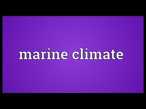 Header of marine climate