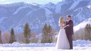 Winter Destination Wedding in Sun Valley, Idaho Mountains