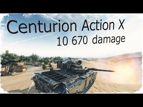 Centurion Action X - 10 670 урона,8 фрагов (World of tanks)
