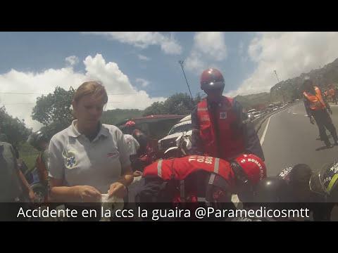 Paramedicos Motorizados // Accidente en la CCS-LG  Camara GO-PRO