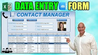 How To Create An Excel Data Entry Form WITHOUT A UserForm