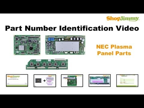 NEC Plasma TV Repair: Part Number Guide for NEC. Hitachi. & Fujitsu Plasma Panel Parts