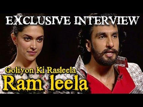 Ram leela - Deepika Padukone & Ranveer Singh talk about Nagada Sang Dhol, Kiss, Sonakshi & more