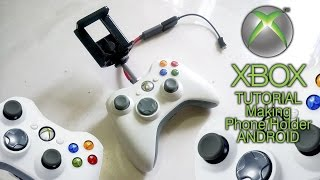 Making phone holder xbox 360 controller