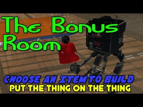 The Lego Movie Video Game: Choose an Item to Build (Put the Thing on the Thing) Bonus Room