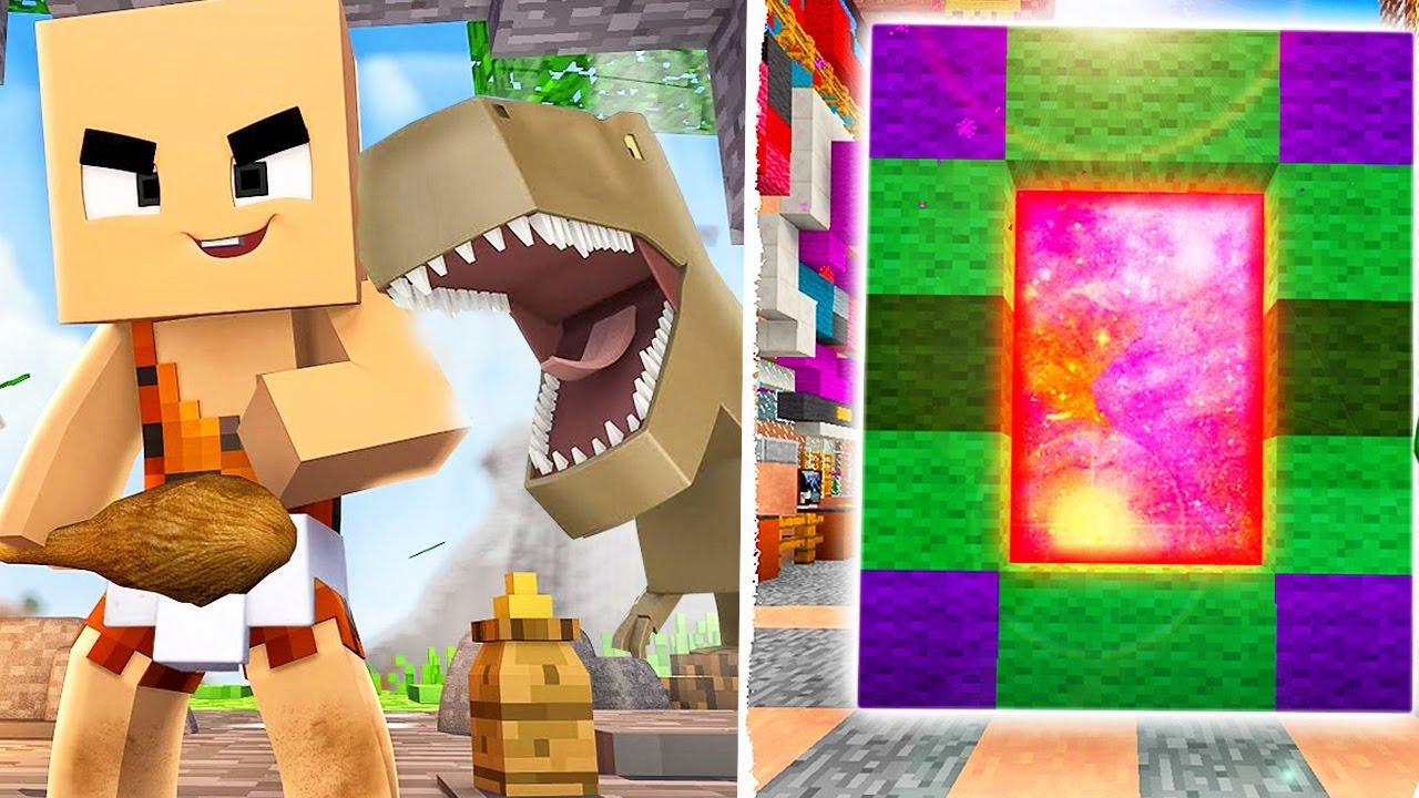 Майнкрафт как сделать портал в мир динозавров