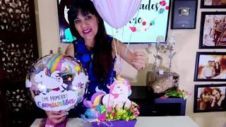 Centro de mesa Unicornio primera comunión y cumpleaños / Manualidades de Vero