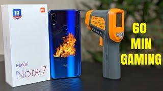 Redmi Note 7 Gaming Performance Test | Heat | Battery Drain | RAM Management | Hindi
