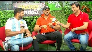#CricketAdda Harbhajan Reviews Day 1 With Vikrant Gupta, भारत 347/6 | Sports Tak