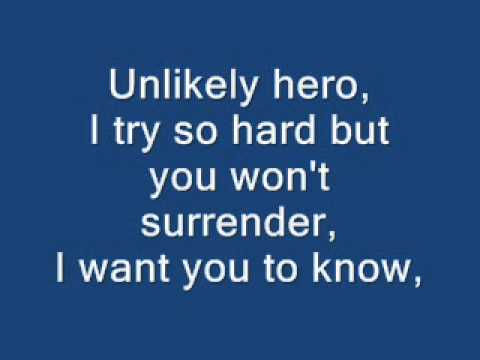 The Hoosiers - Unlikely Hero (with Lyrics) video