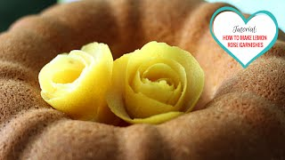 Tutorial: How To Make Roses with Lemon Peels